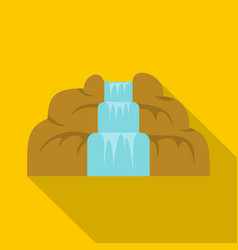 Waterfall icon flat style vector