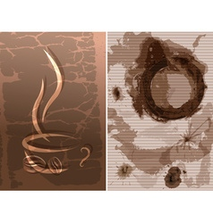 Abstract Coffee Background vector image vector image