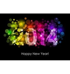 Happy New Year - 2014 background vector image vector image