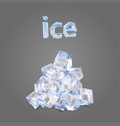 heap of ise cubes vector image