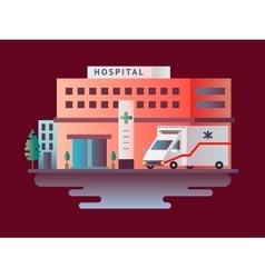 Hospital building design flat vector image