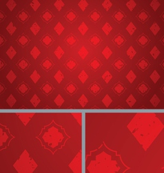 Red Vintage Diamond Distressed seamless Background vector image