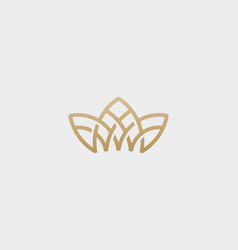 crown flower lotus logo premium house spa vector image