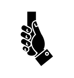 handling hand icon black vector image vector image