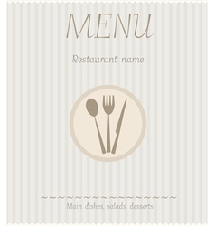 menu striped vector image