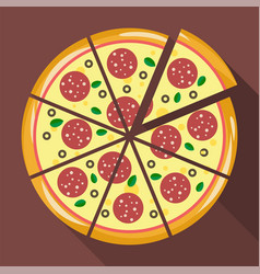 pizza in flat style vector image