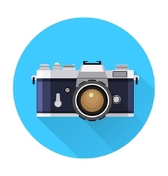 Retro Camera flat icon vector image vector image