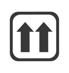 arrows side up symbol vector image