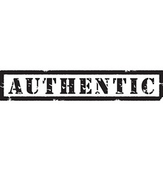 Authentic black stamp vector image