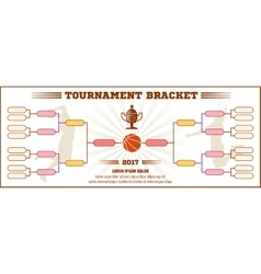 Basketball tournament bracket mockup vector image