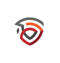 creative abstract shield logo vector image vector image