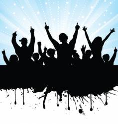 excited audience vector image vector image
