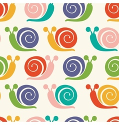 Pattern with colorful snails vector image vector image
