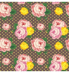 Shabby chic seamless pattern vintage roses vector