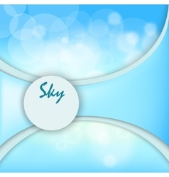 sky background with space for text vector image