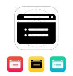 Web browser icon vector image