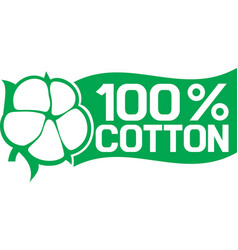 100 percent cotton symbol vector