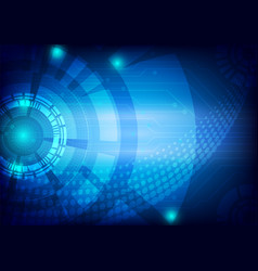 blue digital technology concept abstract vector image vector image