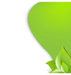 Eco Green Background With Leafs vector image