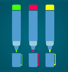 felt-tip pen schools supplies vector image vector image