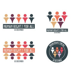 Human rights design elements vector