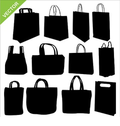 shopping bag silhouettes vector image vector image