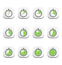 Stopwatch Icons Flat Design vector image vector image