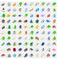 100 comfortable house icons set isometric style vector