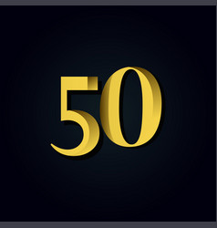 50 years anniversary gold number template design vector