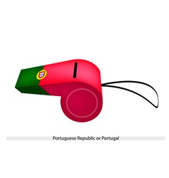 A Whistle of The Portuguese Republic Flag vector image