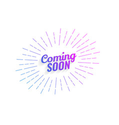 abstract coming soon background with line rays vector image