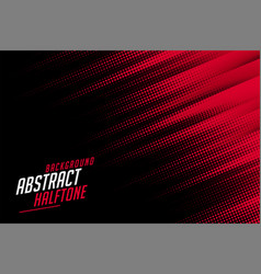 Abstract halftone lines in red and black color vector