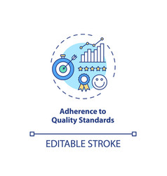 Adherence to quality standards concept icon vector