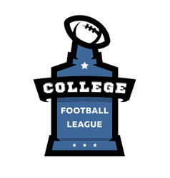american football college league logo vector image