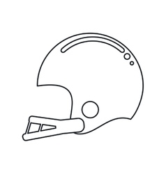 american football helmet sport outline vector image