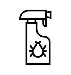 Anti-flea spray line vector