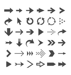 Arrow web icons isolated cursor arrows download vector