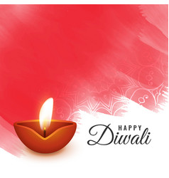 Artistic diwali festival background design vector