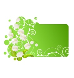 beautiful frame with lily of the valley vector image