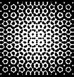 Black and white halftone background template vector
