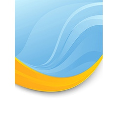 Blue folder template - orange swoosh vector