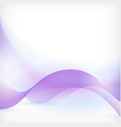 Blue purple wave background vector image