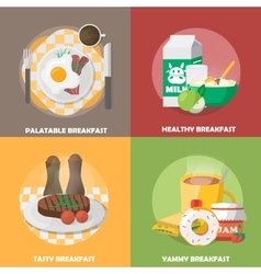 Breakfast Colorful Compositions vector image