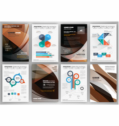 business brochure template and infographics vector image