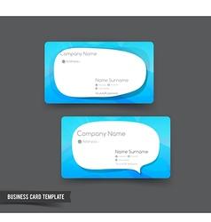 Business Card template set 51 blue and speech vector