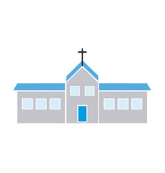 Christian church building religion concept vector