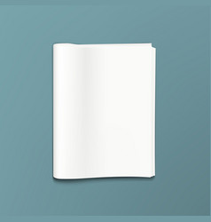 Clear newspaper or news magazine abstract template vector
