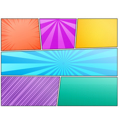 Comic abstract colorful composition vector