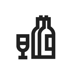 concept of alcohol symbol icon vector image