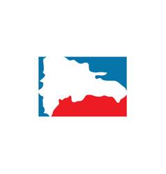 Dominican republic map logo icon symbol vector
